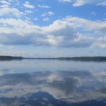 Nature in Finland and the Lakes clouds great reflection